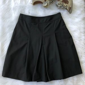 Theory Black A-Line Wool Fit & Flare Skirt, Size 6